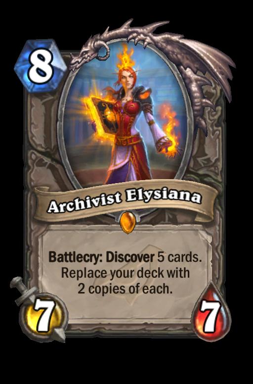 Archivist Elysiana Hearthstone kártya