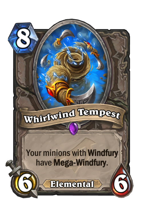 Whirlwind Tempest Hearthstone kártya