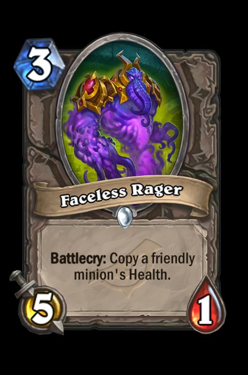 Faceless Rager Hearthstone kártya
