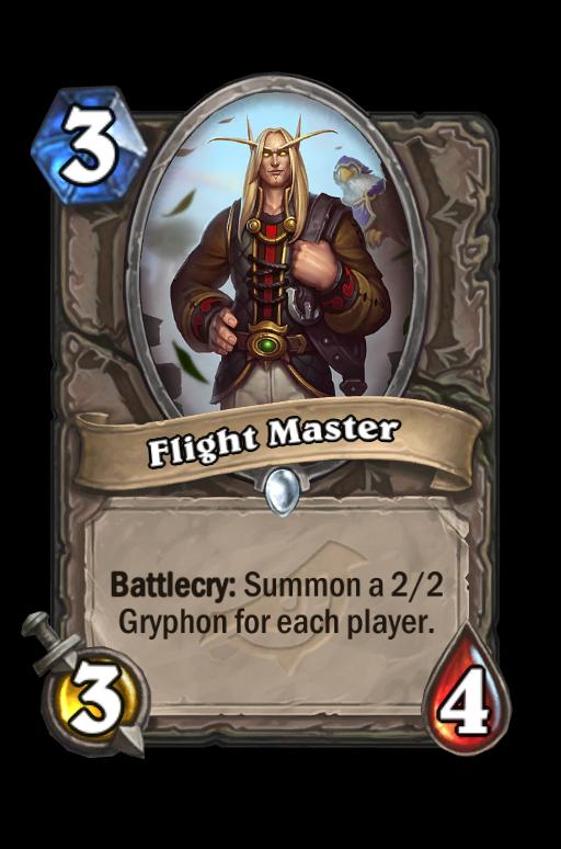 Flight Master Hearthstone kártya