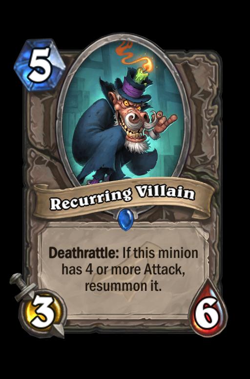 Recurring Villain Hearthstone kártya