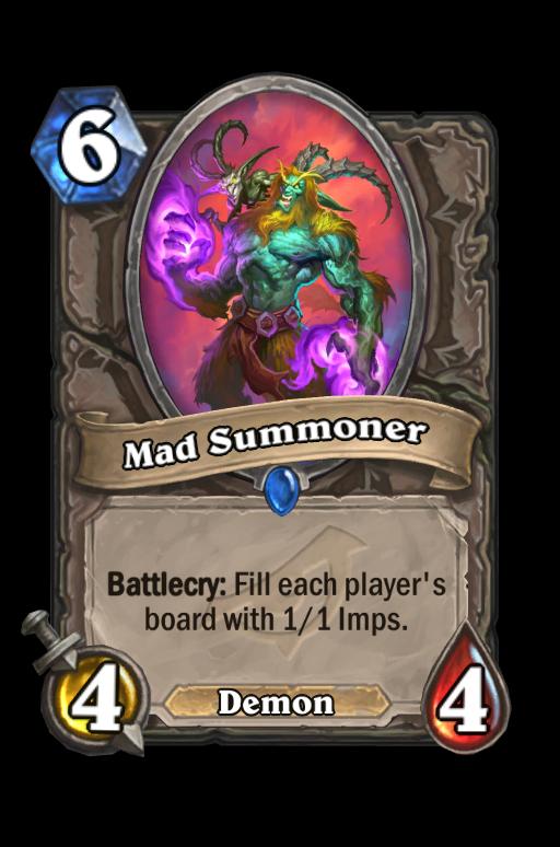 Mad Summoner Hearthstone kártya