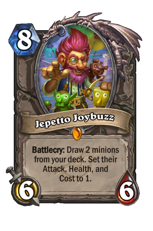 Jepetto Joybuzz Hearthstone kártya