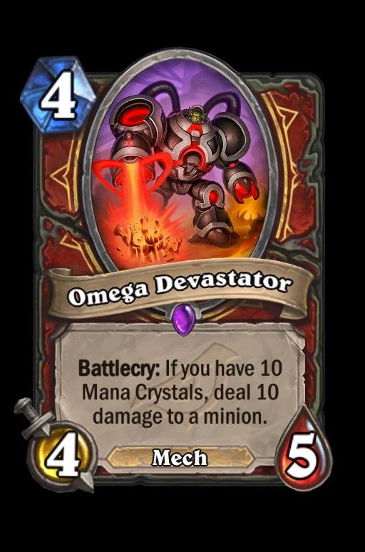 Omega Devastator Hearthstone kártya