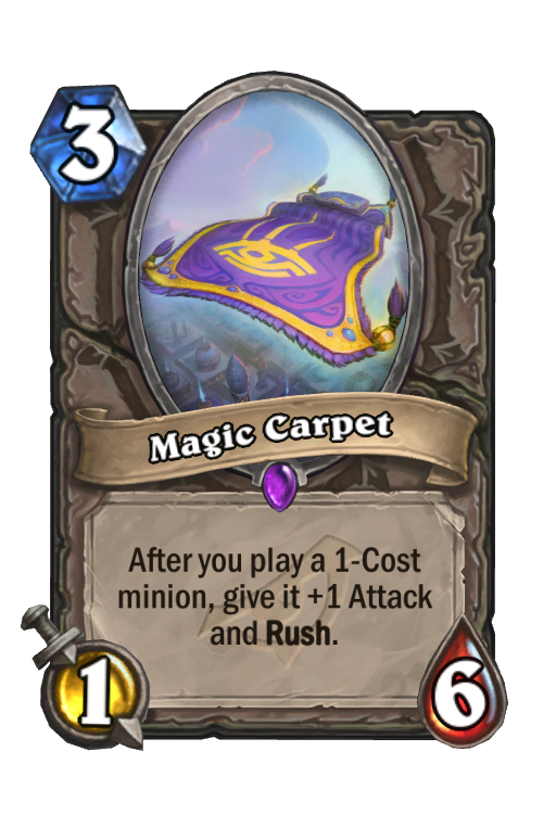 Magic Carpet Hearthstone kártya
