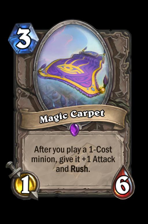 Magic Carpet Hearthstone kártya