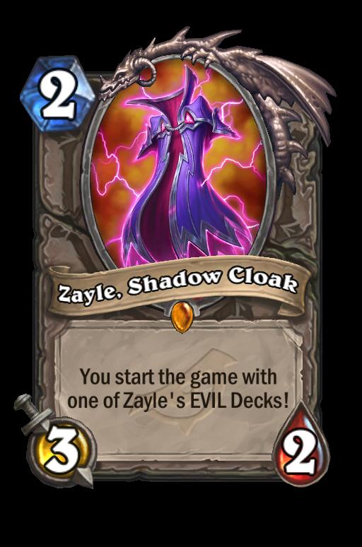 Zayle, Shadow Cloak Hearthstone kártya