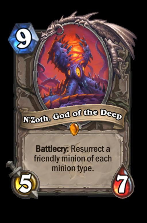 N'Zoth, God of the Deep Hearthstone kártya