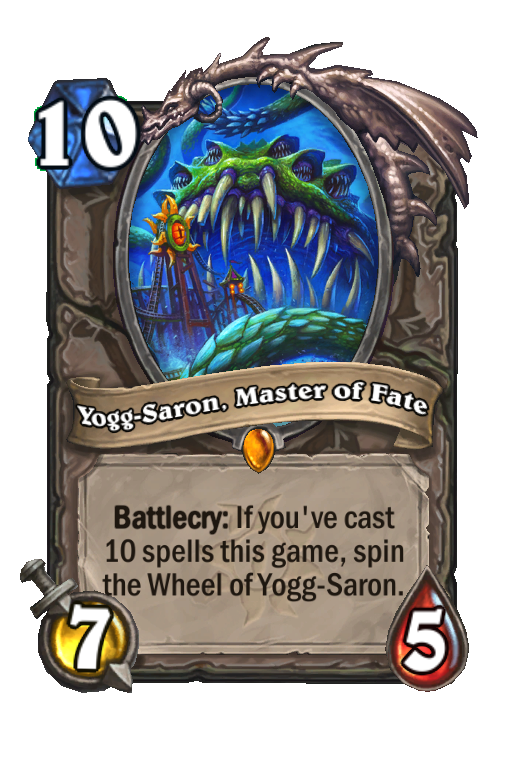 Yogg-Saron, Master of Fate Hearthstone kártya