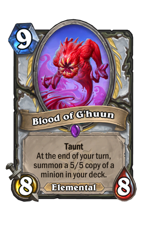 Blood of G'huun Hearthstone kártya