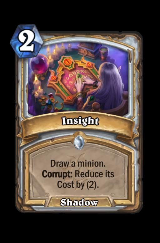 Insight Hearthstone kártya