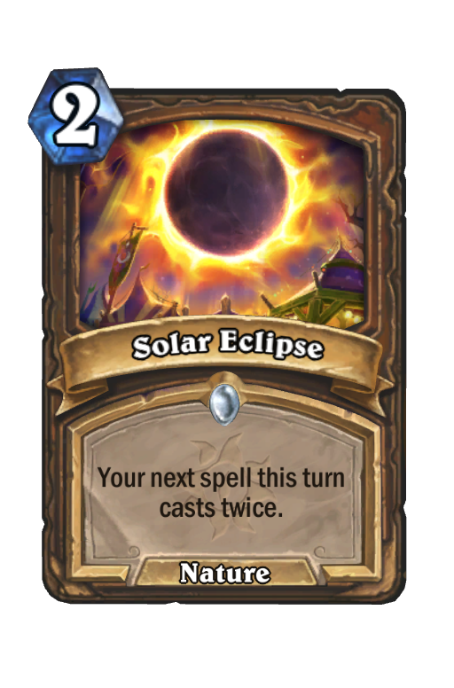 Solar Eclipse Hearthstone kártya