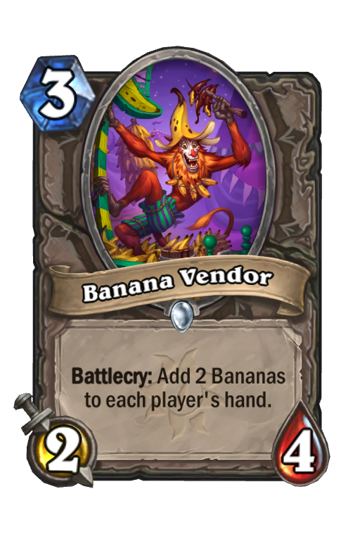 Banana Vendor Hearthstone kártya