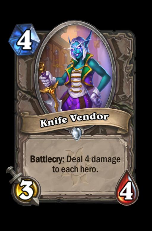 Knife Vendor Hearthstone kártya