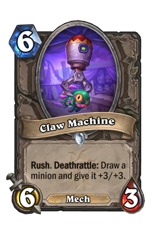 Claw Machine Hearthstone kártya