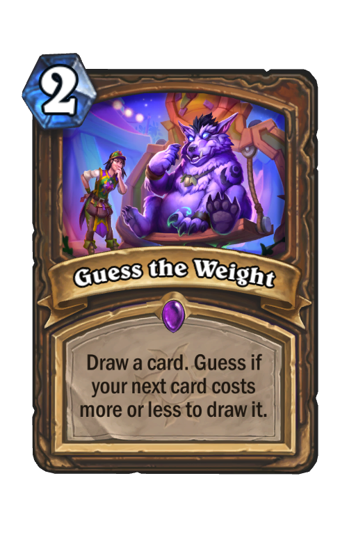 Guess the Weight Hearthstone kártya