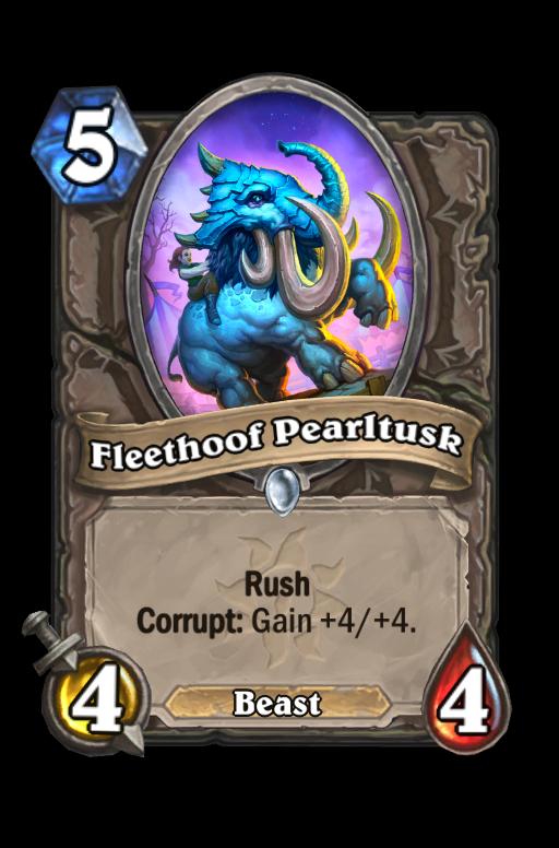 Fleethoof Pearltusk Hearthstone kártya