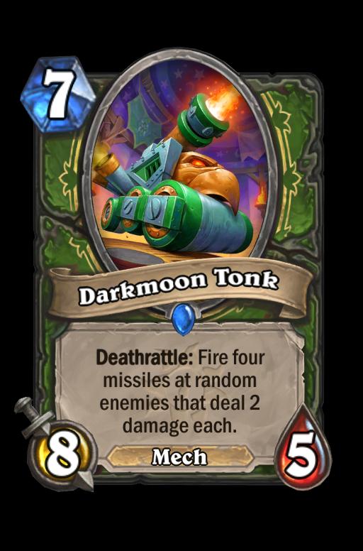 Darkmoon Tonk Hearthstone kártya