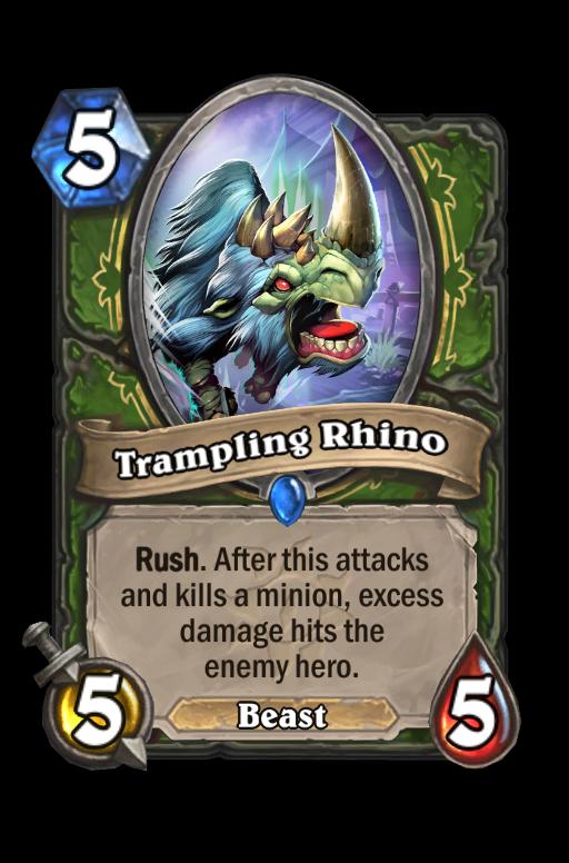 Trampling Rhino Hearthstone kártya
