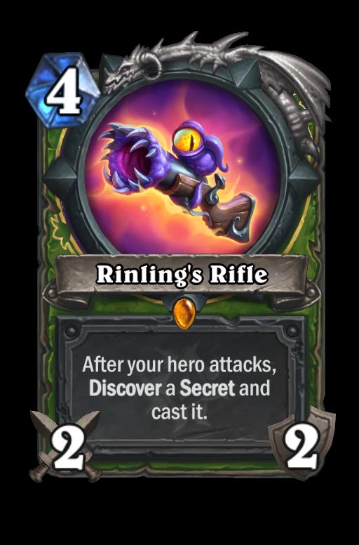 Rinling's Rifle Hearthstone kártya