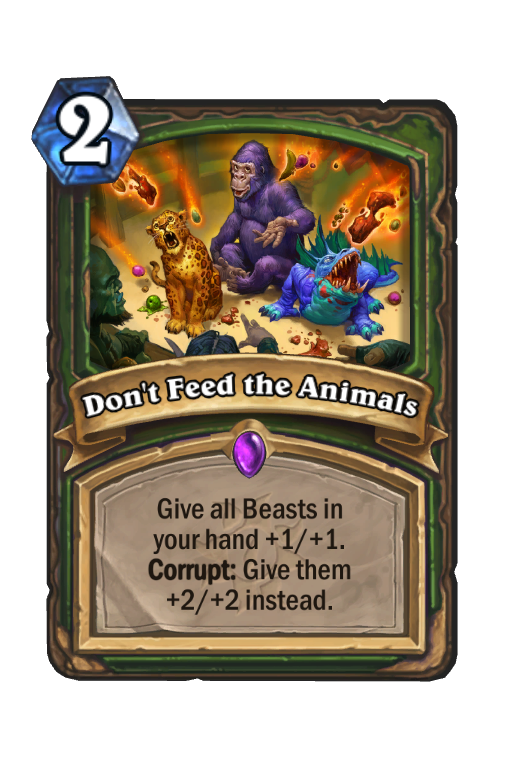 Don't Feed the Animals Hearthstone kártya