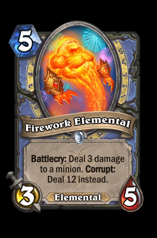 Firework Elemental Hearthstone kártya