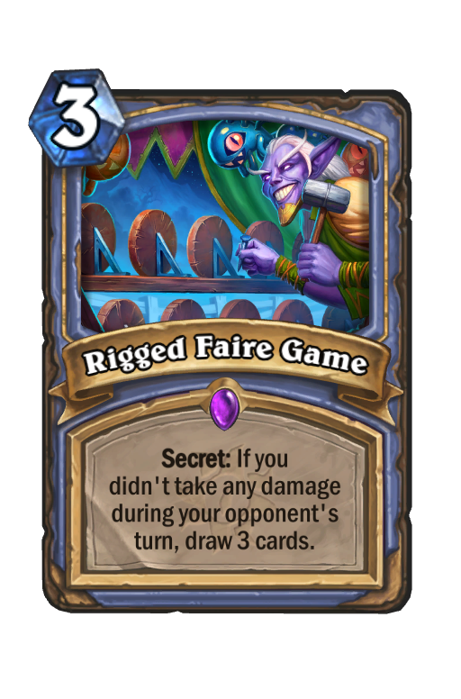 Rigged Faire Game Hearthstone kártya