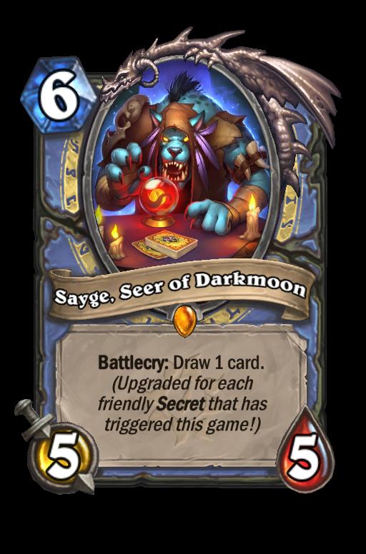Sayge, Seer of Darkmoon Hearthstone kártya