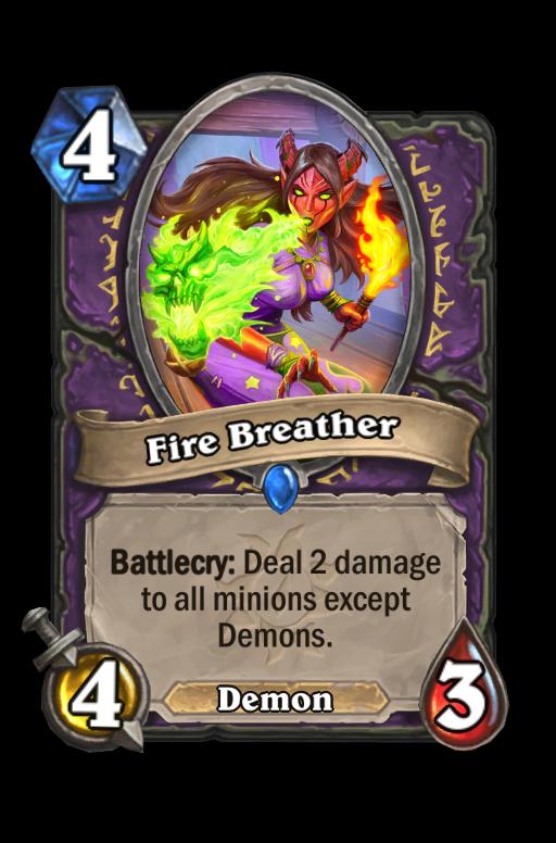 Fire Breather Hearthstone kártya
