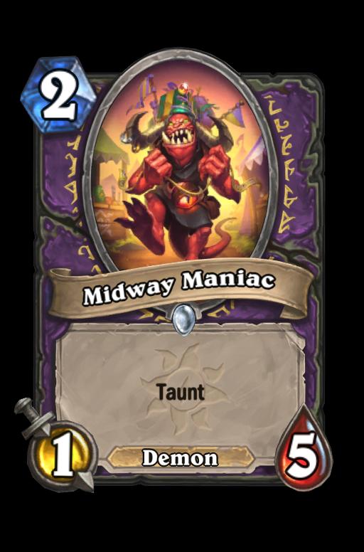 Midway Maniac Hearthstone kártya
