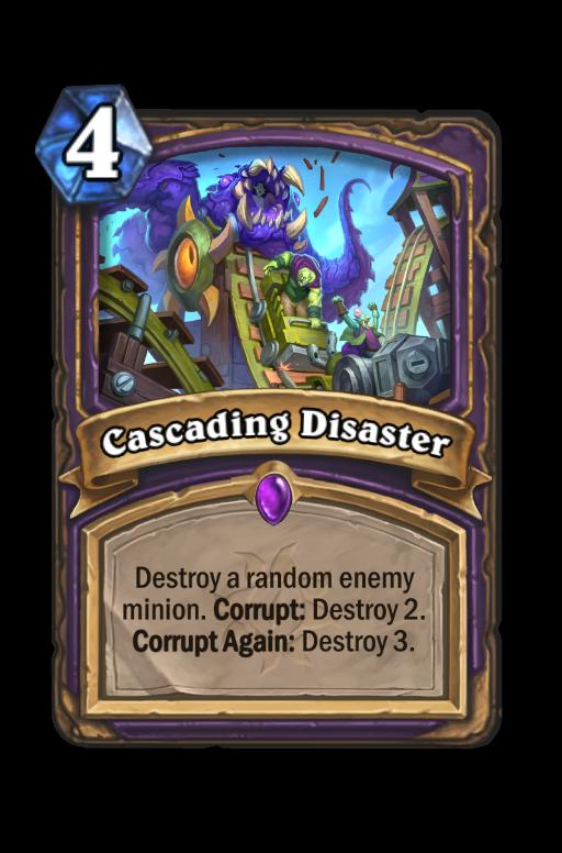 Cascading Disaster Hearthstone kártya