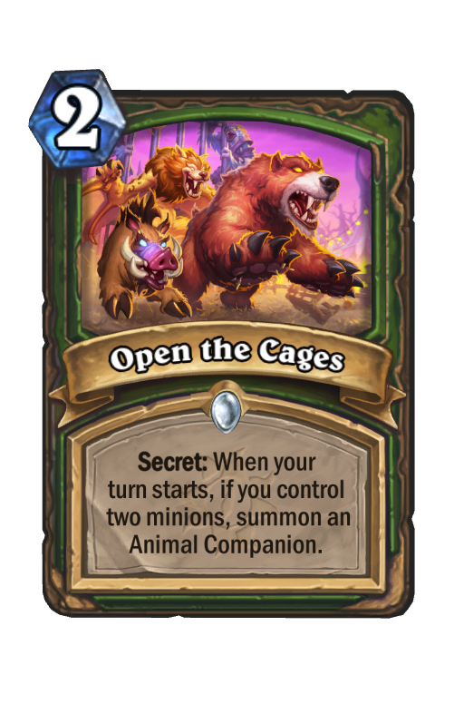 Open the Cages Hearthstone kártya
