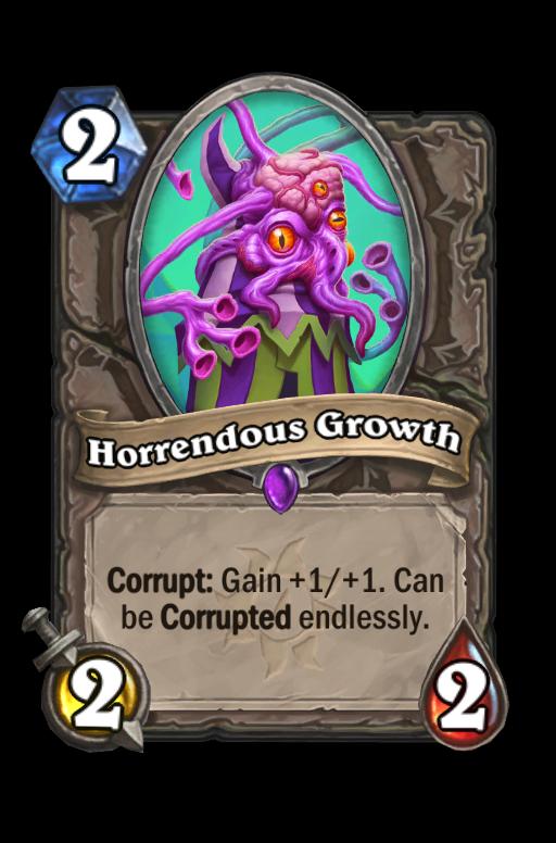 Horrendous Growth Hearthstone kártya