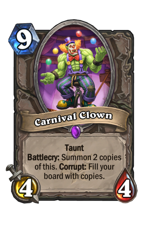 Carnival Clown Hearthstone kártya