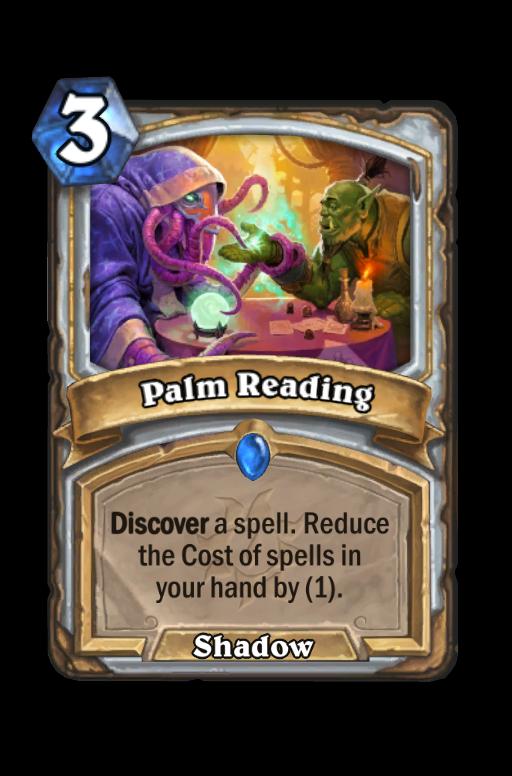 Palm Reading Hearthstone kártya