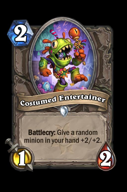 Costumed Entertainer Hearthstone kártya