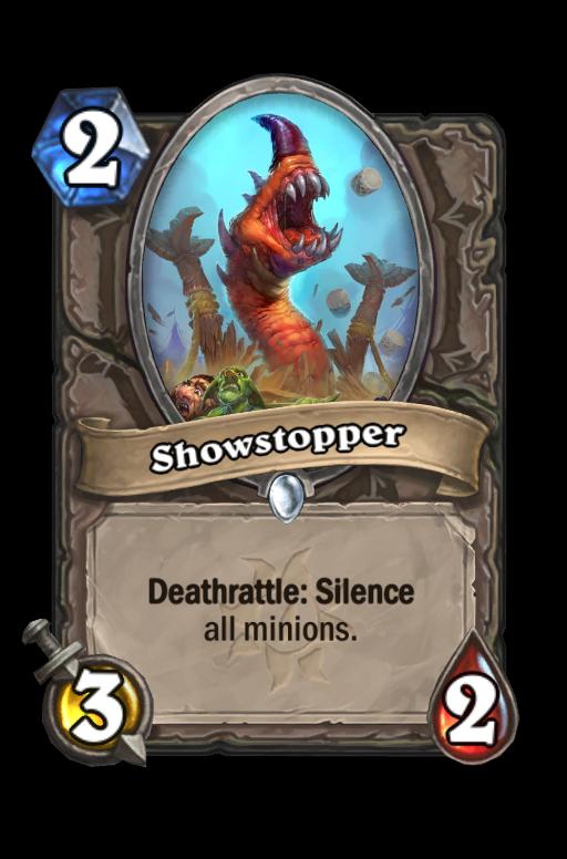 Showstopper Hearthstone kártya