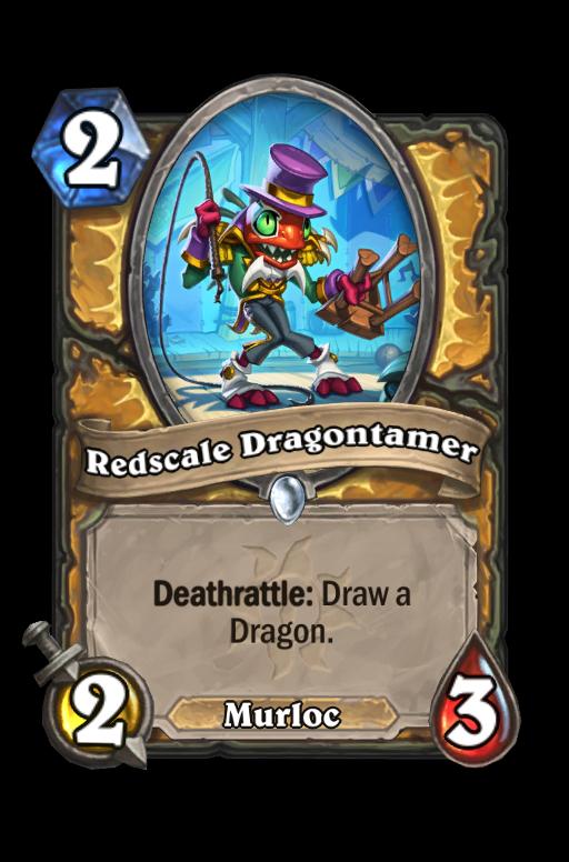 Redscale Dragontamer Hearthstone kártya