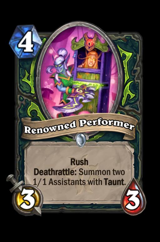 Renowned Performer Hearthstone kártya