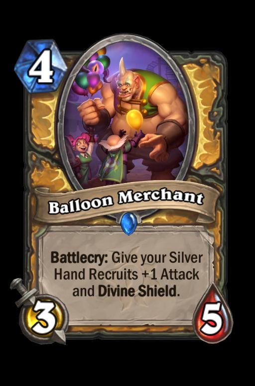 Balloon Merchant Hearthstone kártya