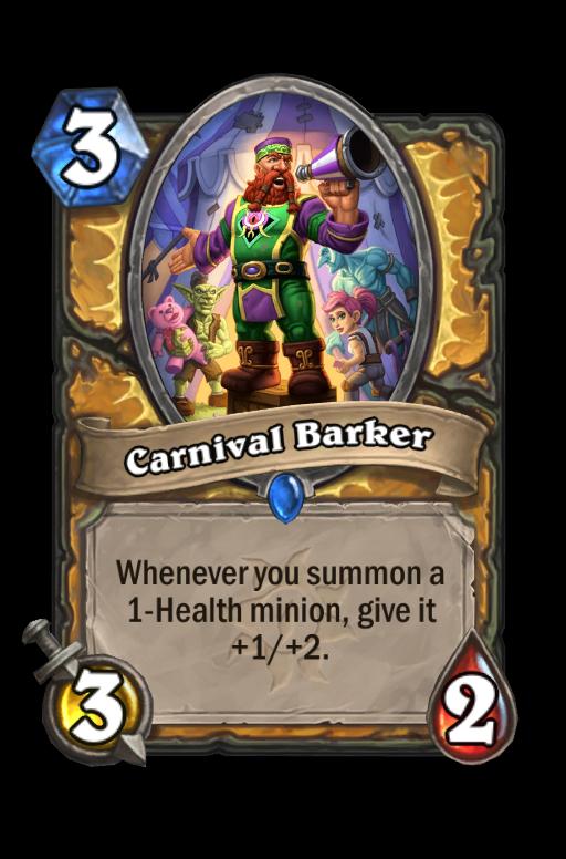 Carnival Barker Hearthstone kártya
