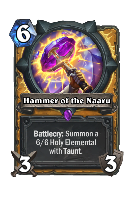 Hammer of the Naaru Hearthstone kártya