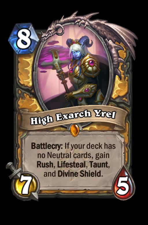 High Exarch Yrel Hearthstone kártya