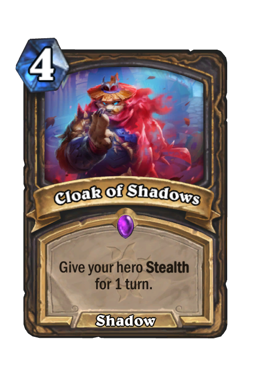 Cloak of Shadows Hearthstone kártya