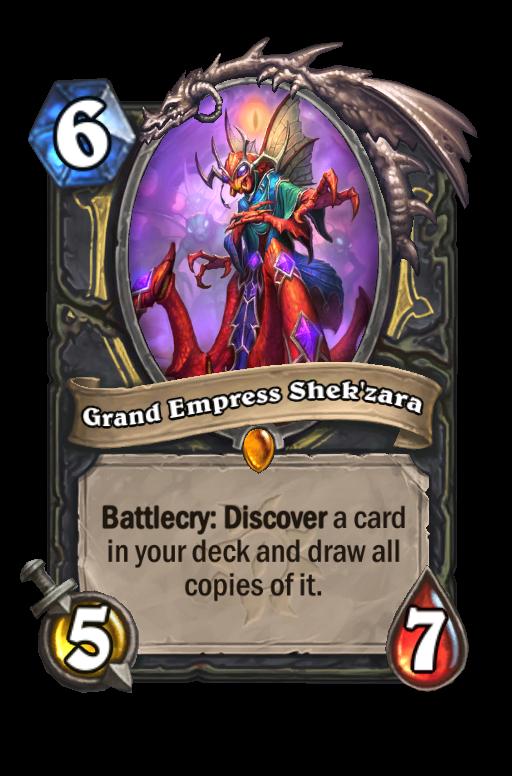 Grand Empress Shek'zara Hearthstone kártya