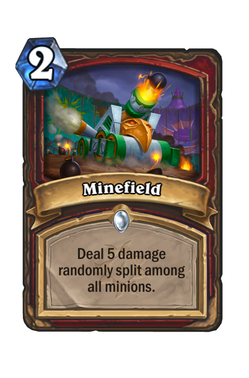 Minefield Hearthstone kártya
