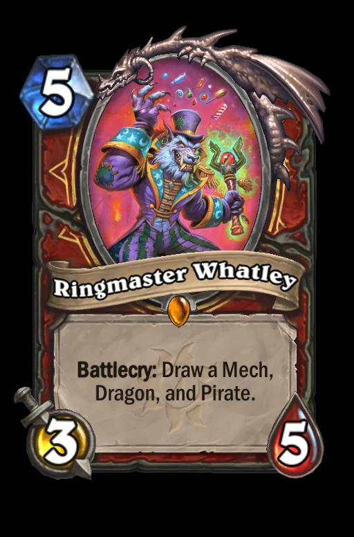 Ringmaster Whatley Hearthstone kártya
