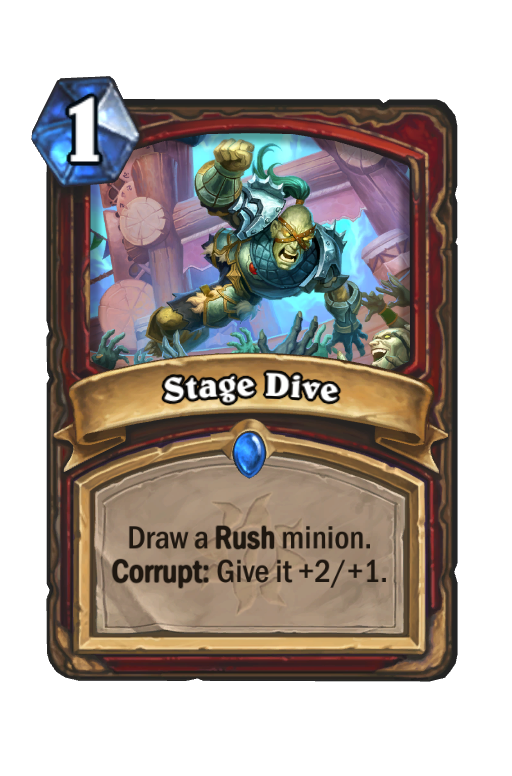 Stage Dive Hearthstone kártya