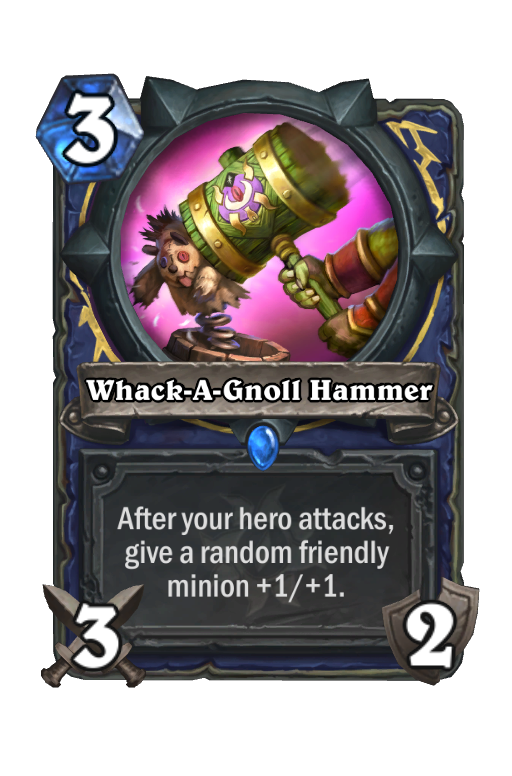 Whack-A-Gnoll Hammer Hearthstone kártya