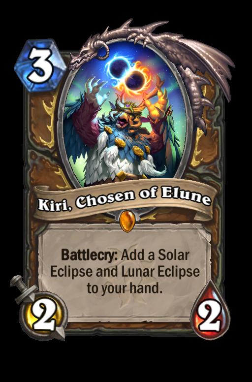 Kiri, Chosen of Elune Hearthstone kártya